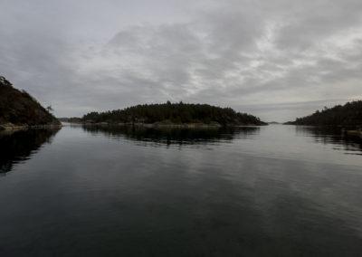 Stillheten senker seg i Ørp - det er februar.