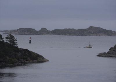 Ut å fiske i november.