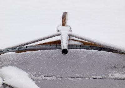Det er januar: Sjekta ligger ude´i Skogsøysund.