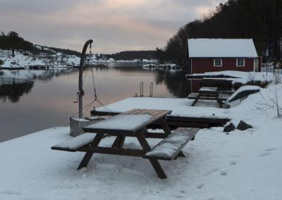 Det er kaldt, og det er februar. Isen er borte.