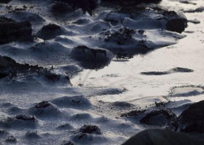 Mars: Frosten slipper ikke enda. Fra Skogsøysund.