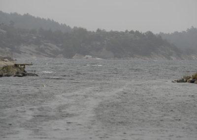 Sydoosten står inn øst i Skogsøysund.