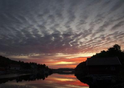 Tidlig, tidlig septembermorgen i Skogsøysund.