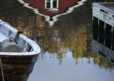 Vinteren er i komminga i Skogsøysund.