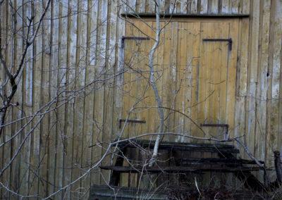 Låven på Fuglevik en desemberdag.