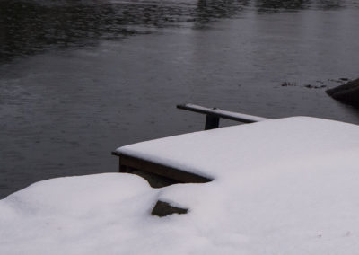 Desember og slopseveer´ i Skogsøysund.