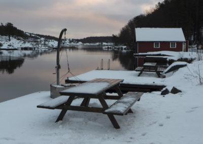 Desember i Skogsøysundet.