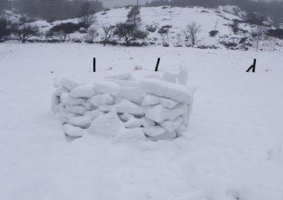 Snøballkrig. Fra Landøy.
