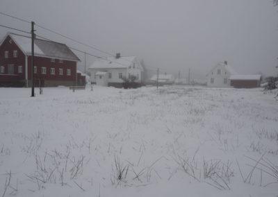 Slopseveer´, tåke og snø i januar på Landøy.