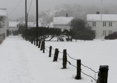 Landøy: Det er snøvær, og januar.
