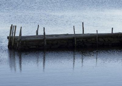 Den sydlige moloen på Landøy. Det er vår - det er mai.