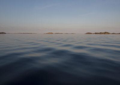 Stillhet rett utenfor Skogsøy en kveld i mai. Kan det bli mer fredfullt.