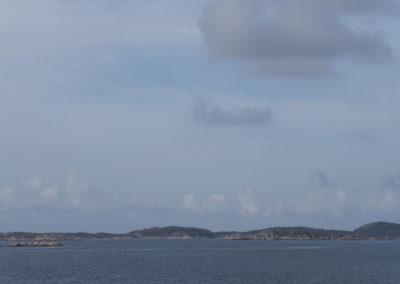 Snekka på vei mot Landøy og Skogsøy.